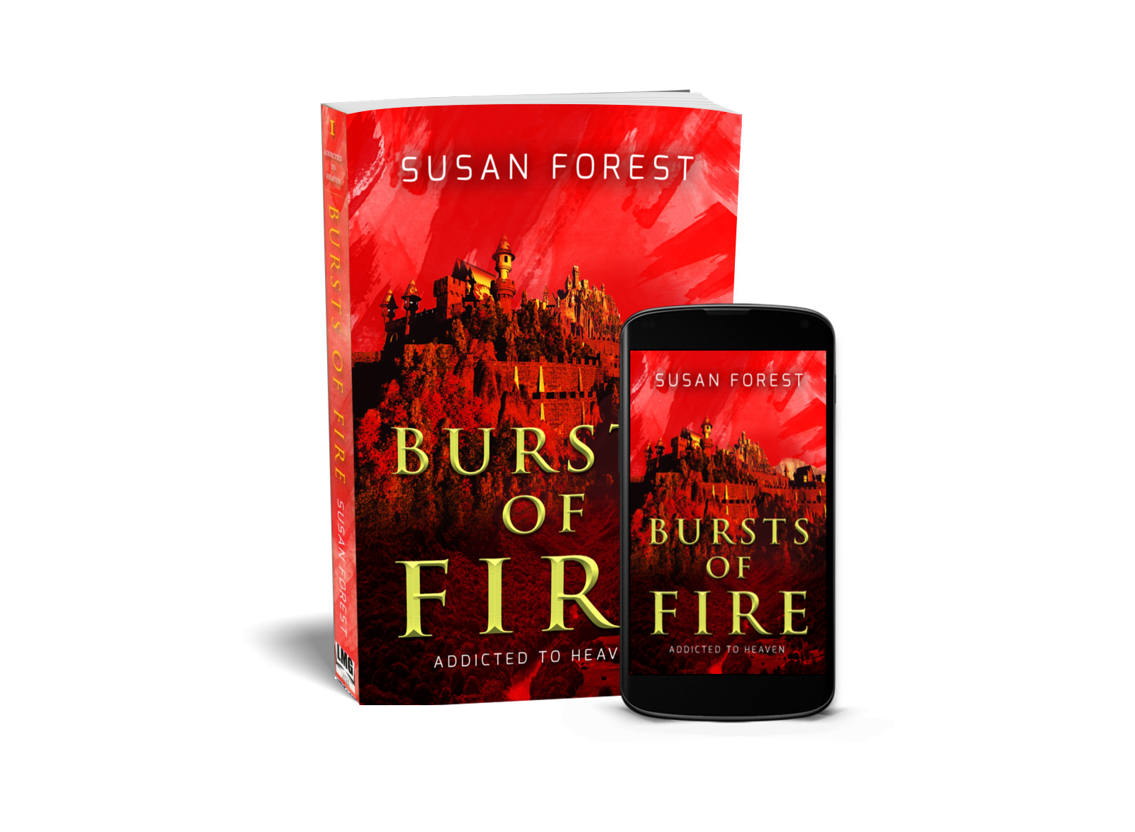Cover Image of Bursts of Fire in several formats
